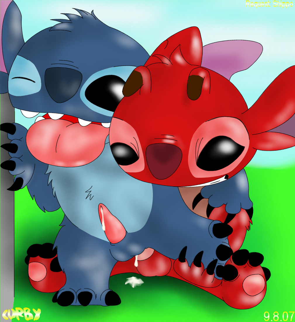 captain lilo gantu stitch and Gregg from night in the woods
