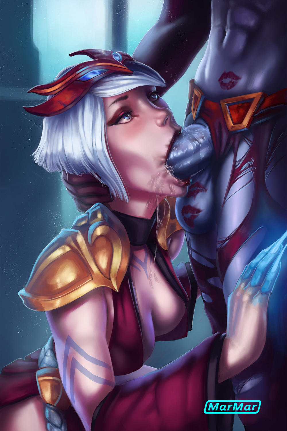 akali moon in blood game Riven of a thousand voices art