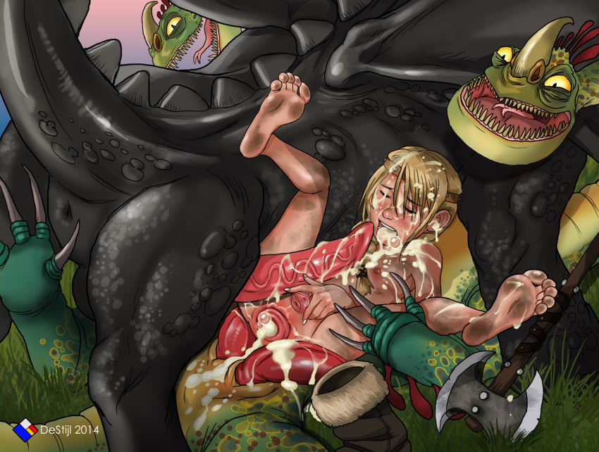 to train astrid how porn your and dragon hiccup Five night at freddy's chica