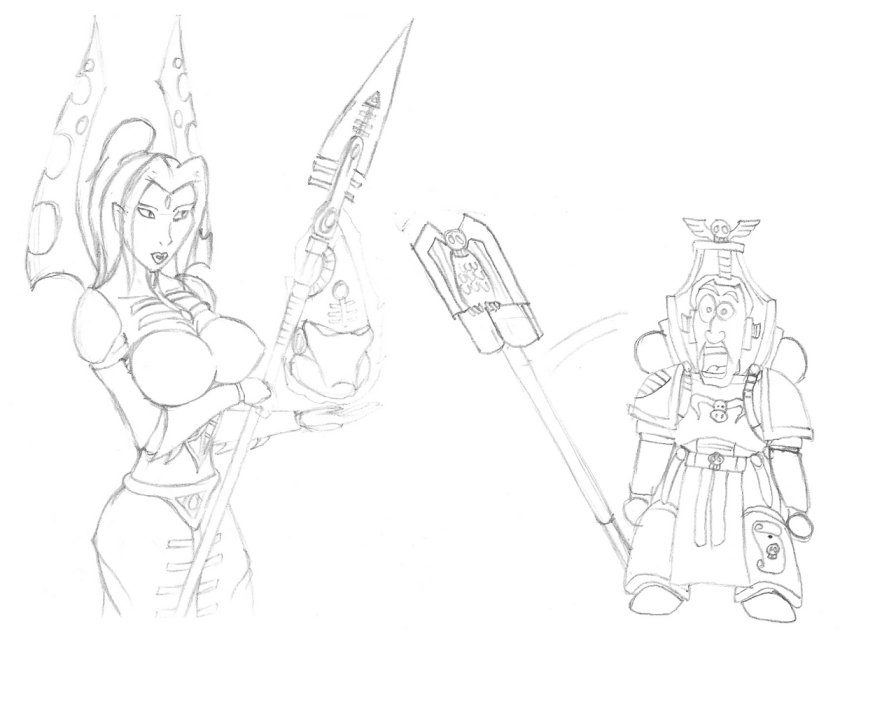 bloom love 40k can warhammer Sonic x amy and rouge